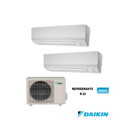 Aire multisplit 2x1 finest aire multi split x airwell for Comparativa aire acondicionado daikin mitsubishi