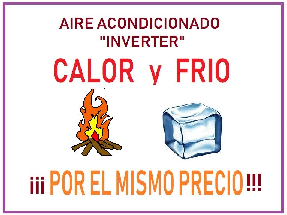 Aire inverter calor y frio